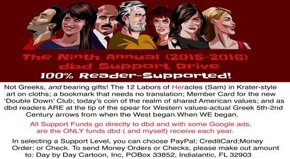 Plea 2015 Day by Day Cartoon Fundraiser