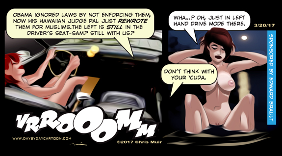 Don't Think with Your 'Cuda. www.daybydaycartoon.com